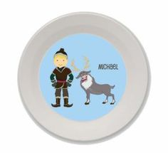 Personalized Snow Hero and Moose Bowl