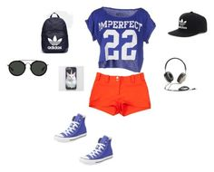 """""""Bez naslova #89"""" by mei-terumi ❤ liked on Polyvore featuring !M?ERFECT, Versace, Converse, adidas, Dries Van Noten and Frends"""