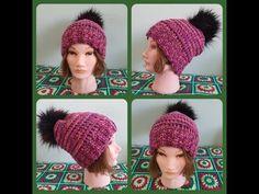 Melírová čiapka s brmbolcom, Colored cap with pompom Crochet Hats, Cap, Color, Youtube, Fashion, Knitting Hats, Baseball Hat, Moda, Fashion Styles
