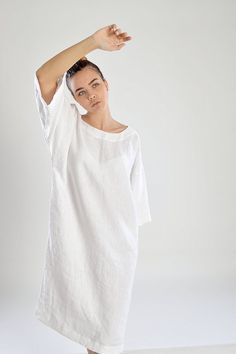 Pure Linen tunic  Women's  Linen tunic/dress  от pureWHITEspa