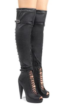 Jeffrey Campbell Evidence Over-the-Knee Boots size 6 new in box  #JeffreyCampbell #OverKneeBoots