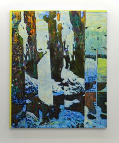 For artist Jered Sprecher, painting is a medium for conveying the tensions between the abstract and the concrete. Layer Paint, Flat Shapes, Abstract Photography, Contemporary Paintings, Mixed Media Art, Art Forms, Painting & Drawing, Illusions, Abstract Art