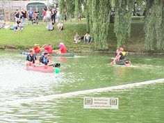 Stadtseefest Pfullendorf Stegstrecker, Fischerstechen auf dem Stadtsee, BauFachForum Baulexikon Seepark Pfullendorf Thema: Nasser Spaß für jung und alt.