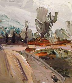 & Guy Maestri ~ The end ~ 2013 oil on linen at Olsen Irwin Gallery Sydney Australia Landscape Artwork, Abstract Landscape Painting, Seascape Paintings, Art Village, Kunst Inspo, Art Inspo, Mountain Art, Australian Artists, Contemporary Paintings