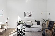 Stylist duo Studio In styled this fabulous apartment for sale | Featuring an IKEA Söderhamn sofa with a Bemz Loose Fit Urban cover | scandinavian interior | modern minimalism