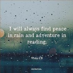 Sempre vou encontrar paz na chuva e aventura em . Quotes For Book Lovers, Book Quotes, Life Quotes, Bookworm Quotes, I Love Books, Good Books, Books To Read, Quotes About Reading Books, Great Quotes