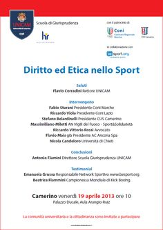 Fair Play ed etica nello sport. Be Sport all'Università di Camerino | Emanuela Grussu