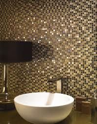 mosaic bathroom tile splashback, love love love the fine detailing of this. Perhaps in a gold/brown combination or gold/cream?