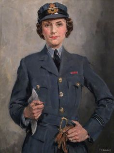 Flight Officer Felicity Hanbury (1913–2002) c. 1943 by Thomas Cantrell Dugdale (British 1880–1952)