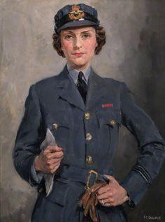 Flight Officer Felicity Hanbury (1913–2002), c. 1943, by Thomas Cantrell Dugdale (British, 1880–1952)