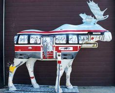 Toronto Moose in the City # 316: Moose Transit Commission by Studio 1181. Resided at TTC subway stations in 2000. Patron: Toronto Transit Commission.