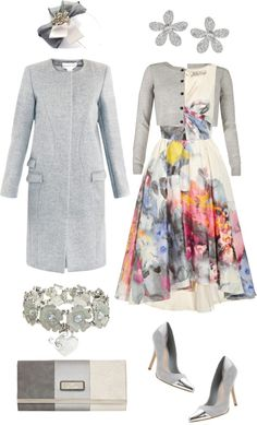 """Grey Florals"" by angela-windsor on Polyvore"