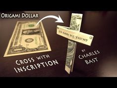 This video is part of an origami series of religious symbols from around the world. It's part of my effort to acknowledge and respect all religions. As I sho. Homemade Gifts, Diy Gifts, Money Origami Tutorial, Creative Money Gifts, Folding Money, Dollar Bill Origami, Money Lei, Origami Heart, In God We Trust