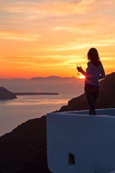 Sunset Magic in Santorini, Greece