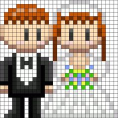 Married Couple perler bead pattern