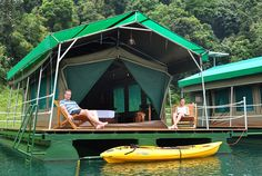 Luxury floating tented accommodation, Rainforest Camp - Cheow Larn Lake