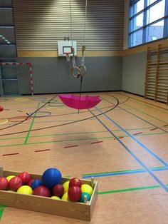 Education and so on .: Gym activities: Umbrella throwing - Education and so on ……. Sports Activities For Kids, Gross Motor Activities, Movement Activities, Gross Motor Skills, Games For Kids, School Clubs, School Sports, Yoga For Kids, Exercise For Kids