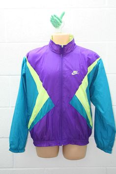 VINTAGE NIKE 1990s TRACKSUIT TRACKY TOP JACKET SHELL SUIT URBAN M NKSS5 £39.99