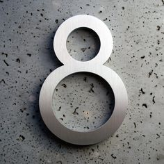 Modern House Numbers Aluminum Modern Font Number Eight 8. $25.99, via Etsy.