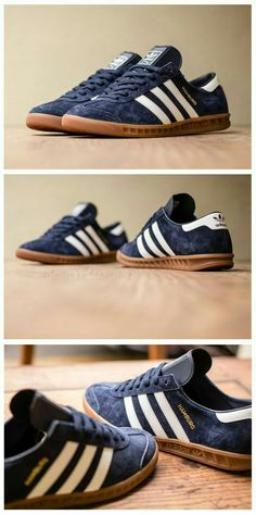 adidas Originals Hamburg: Navy Suede Any colours - Linc would love matching  shoes for himself and the two boys.
