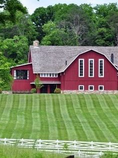 Red barn. would have basketball court and indoor pool in this!