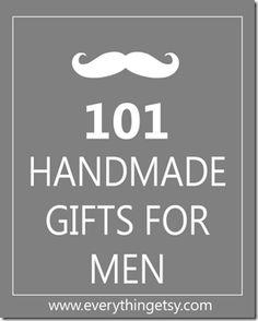 101 Handmade Gifts for Men {DIY} #handmade gifts for men