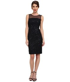 Calvin Klein Calvin Klein  Sequin Dress with Illusion Yoke Womens Dress for 134.99 at Im in! #sale #fashion #I'mIn