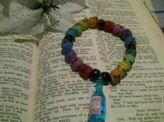 Rainbow Skull Poison Bracelet  Day of the Dead 18 by cultangel, $6.00