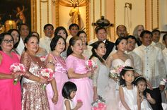 With our principal sponsors and flower girls.