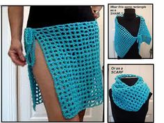 Crochet Beach Skirt, Shawl, Or Scarf By Emi Harrington - Free Crochet Pattern - (ravelry)