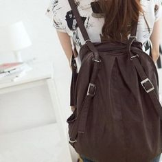 Amazon.com: Estilo de cuero del morral del bolso NEEWER ® Girls 'Casual Faux Mochila hombro (Brown): Beauty