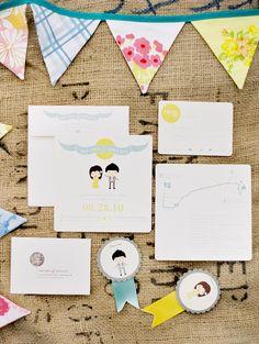 Joli mariage moderne et pleins de jolis détails DIY: Zoe et John