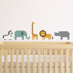 Overview Your kids will roar with delight when they see these modern Safari Animal wall decals from Maxwill Studio. It makes the perfect addition to any bedroom or nursery decor with a jungle or safar Safari Theme Nursery, Baby Boy Nursery Themes, Baby Boy Rooms, Baby Boy Nurseries, Nursery Decor, Nursery Ideas, Jungle Theme, Baby Room, Jungle Room