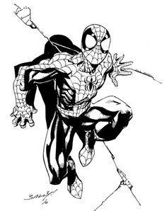 Spiderman Poses, Spiderman Pictures, Spiderman Art, Amazing Spiderman, Comic Books Art, Comic Art, Book Art, Mark Bagley, Marvel Drawings