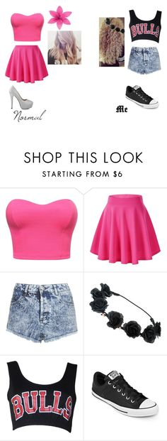 """""""Normal Girls vs. Me"""" by paige-york0215 on Polyvore featuring beauty, Topshop and Converse"""