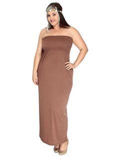 Simplicity Plus Size Stretch Empire Waist Maxi Dress, Made in USA, Chocolate, XL Simplicity http://www.amazon.com/dp/B00KL6MCY0/ref=cm_sw_r_pi_dp_-.kevb1JRFH18