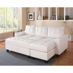 Acme Furniture Lyssa Sectional Sofa with Ottoman | Hayneedle
