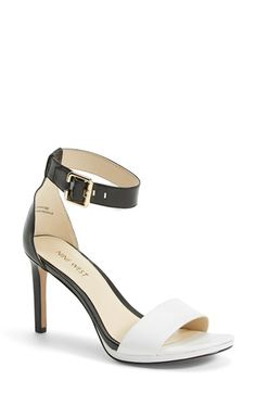 Nine+West+'Meant+to+be+Minimal'+Leather+Ankle+Strap+Sandal+(Women)+available+at+#Nordstrom