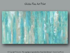Contemporary fine art print for home or office decor. Colors blend well with turquoise, teal, aqua, tan, taupe, brown, and neutral color palettes. Ready to hang canvas prints of the original painting are also available as shown in photos 3-4. See links below under More Options.  ►► DETAILS ►► PLEASE READ ►► ☼ Medium: Giclée print on matte fine art paper. Reproduced from original painting by Denise Cunniff. Matting and framing are not included. ☼ Sizes available: Mini 8x16, 10x20, 12x24…