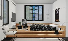 Sims 4 CC's - The Best: Pseudo Bedroom Set by DreamTeamSims