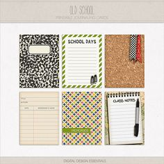 The only card I like is the classic black & white journal cover. But I like it almost enough to buy the whole thing! //Don't like Old School Journaling Cards