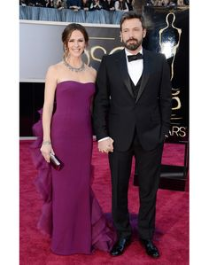 They both look great!  Jennifer Garner and Ben Affleck at the 85th Academy Awards red carpet.