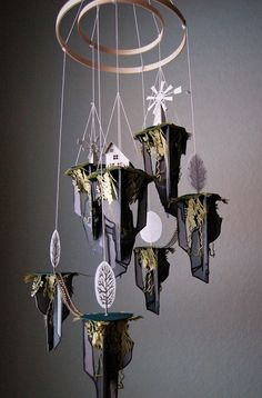 sosuperawesome: Paper Art, by Nebula Creations Co. Paper Art, Paper Crafts, Diy Crafts, Art Projects, Projects To Try, Unusual Art, Wind Chimes, Origami, Gifts For Kids