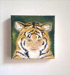 Kinderportrait Motto Tiger