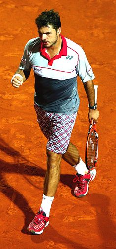 ...'stan the man' wawrinka  ...gunning for his first french open title...if he wins, too bad it will be in that awful outfit!