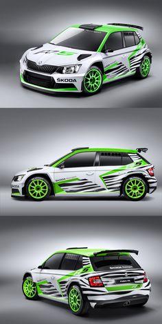 Skoda Fabia R5 rally livery