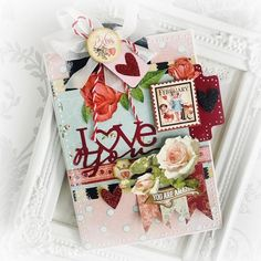 """""""Be Mine"""" Valentine's Day Cards By Aneta Matuszewska Product by Graphic 45 Baby 2 Bride, Love Notes, ATC Tags Graphic 45, Some Ideas, Love Notes, Beautiful Love, Love Cards, Valentines Day, Goodies, Paper Crafts, Gift Wrapping"""