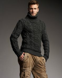 MADE TO ORDER Sweater turtleneck men hand knitted sweater cardigan pullover men clothing handmade men's knitting aran cabled crewneck by BANDofTAILORS on Etsy https://www.etsy.com/listing/260395488/made-to-order-sweater-turtleneck-men