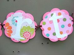 1st birthday banner. I can make this with scrapbook paper