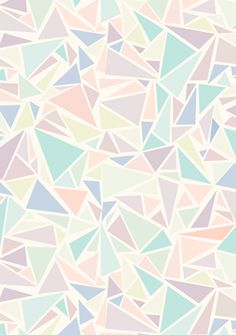 Pastel triangles #geometric #pattern #triangles